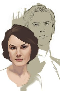Downton Abbey Mary and Matthew - Phil Noto