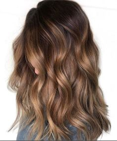 balayage hair 45 Brunette Looks Were Falling for this Season - Hair Color - Modern Salon Brown Hair Balayage, Hair Color Balayage, Balayage Highlights, Honey Balayage, Brown Ombre Hair Medium, Balayage Hair Brunette Medium, Medium Brown Hair With Highlights, Honey Brown Hair Color, Fall Balayage
