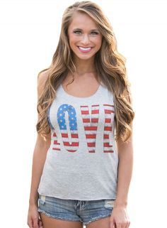 139564bff79 Casual Stars And Stripes Sleeveless Round Neck Women Tank Top - NOVASHE.com