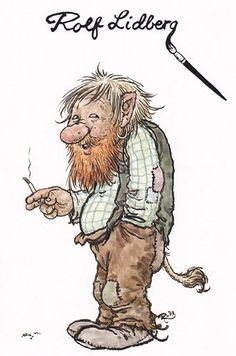 ˇˇ Elves And Fairies, Fantasy Drawings, Mythological Creatures, Believe In Magic, Leprechaun, Funny Art, Art Plastique, Gnomes, Scandinavian