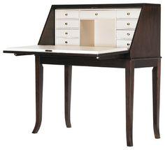 Hudson Street Mercantile Drop Front Desk - Dark Espresso Finish transitional desks