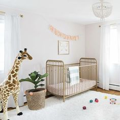 Less is totally more in this super-sweet, bright and airy nursery! Design by: @donnagarlough // @littleseedskids // @wayfair
