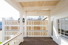 privacy vinyl porch railings on back deck