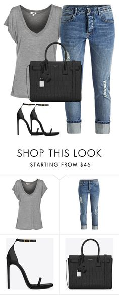 """Untitled #1346"" by rilovesclothes ❤ liked on Polyvore featuring Yves Saint Laurent"