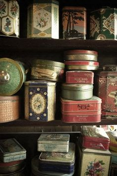 collection of vintage tins ...