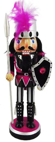 N1016: 10 inch Nutcracker Knight with Shield and Feather