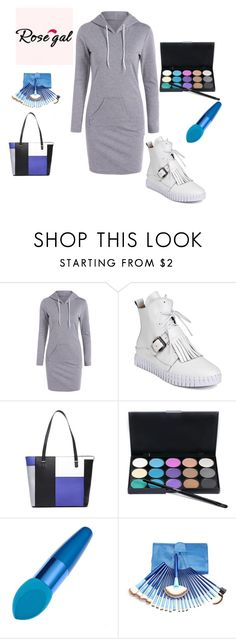 """""""Gray Dress-Rosegal 10"""" by seldy-enes ❤ liked on Polyvore"""