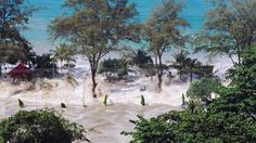 Patong beach in Phuket, Thailand, was destroyed by the tsunami on Dec. 25, 2004. More than 230,000 people died. Gamma-Rapho via Getty Images