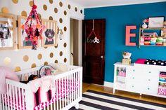 Fun & funky nursery full of easy DIY details