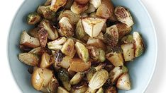 Pears lend their sweetness to earthy Brussels sprouts in this quick essence-of-fall side dish. Serve with roast turkey or baked ham. Pear Recipes, Fruit Recipes, Side Dish Recipes, Side Dishes, Recipies, Healthy Recipes, Sprout Recipes, Vegetable Recipes, Vegetable Sides
