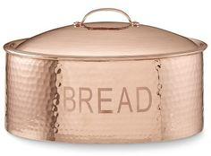 Williams Sonoma Hammered-Copper Bread Box #affiliate
