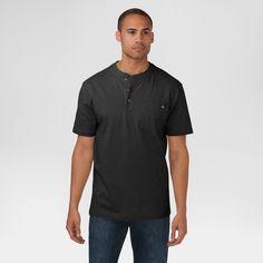 Dickies Men's Big & Tall Cotton Heavyweight Short Sleeve Pocket Henley Shirt-