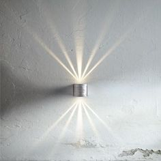Nordlux Canto LED decorative external wall light in galvanized steel. Comes with six light filters to create amazing effects