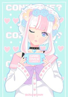 anime, kawaii, and pastel image Creepy Cute, Cute Art, Pastel Goth Art, Kawaii Drawings, Kawaii Anime, Cute Drawings, Anime Drawings, Kawaii Art, Kawaii Wallpaper