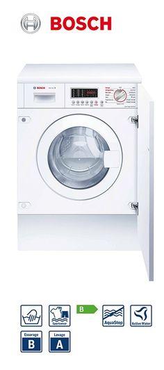 Lave-linge séchant - tout intégrable | Volume du tambour : 52L | Capacité : 7kg lavage - 3,5kg séchage