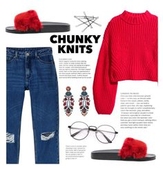 """""""Get Cozy: Chunky Knits #3"""" by sandralalala ❤ liked on Polyvore featuring H&M, Monki, Givenchy and Ayala Bar"""