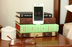 A docking station for your Apple device...disguised as a book!