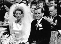 Queen Beatrix of the Netherlands - love the bouffant-like veil!