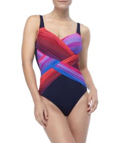 Colorful One-Piece Swimsuit on Wantering | Surf & Swim | womens one piece swimsuit | womens bathing suit | fashion | style | wantering http://www.wantering.com/womens-clothing-item/colorful-one-piece-swimsuit/ag8jP/