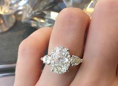 Aria Classic Diamond Ring with Oval cut center stone