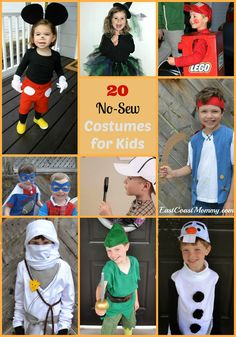 These no-sew costumes are easy to make... and totally A-D-O-R-A-B-L-E!