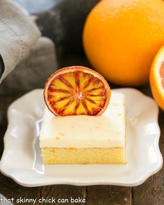 Cream Cheese Frosted Orange Cake @lizzydo