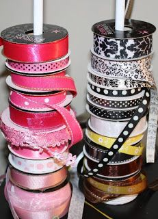 A Little Bit of Patti: How to Make Inexpensive Ribbon Storage for Only $1.50!!!