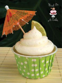 Coconut Lime Cupcakes {Bird On A Cake}