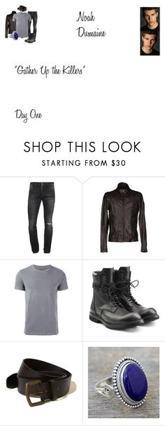"""Noah Dumaine Worlds Colliding (The Originals) 4.01 ""Gather Up the Killers"""" by mysticfalls1997 ❤ liked on Polyvore featuring Dsquared2, Street Leathers, Majestic Filatures, Rick Owens, Hollister Co., NOVICA, men's fashion and menswear"