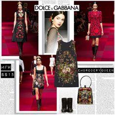 MFW SS15 Dolce &Gabbana Embrodery Queen