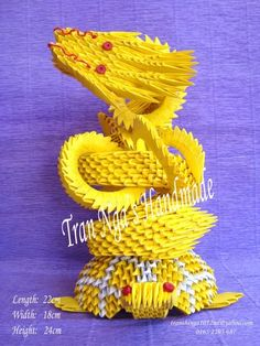 3D Origami Dragon   3d Origami Flying Dragon-tran Nga's Handmade Photo by ngatt ...