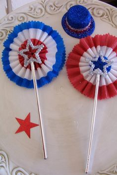 Independence Day Wands by JeanKnee on Etsy, $8.00