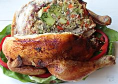Kurczak nadziewany warzywami