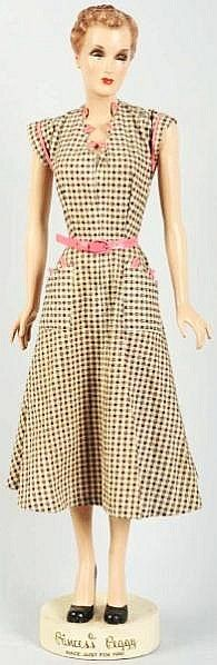 "1930s ""Princess Peggy"" Dresses Advertising Figure - by Morphy Auctions"