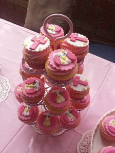 Sofia's Christening Cupcakes decorations hand made :)