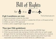 Airline Passenger Rights for using your carseat on the plane. #familytravel