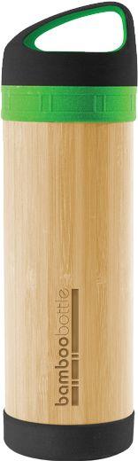 Bamboo water bottle.