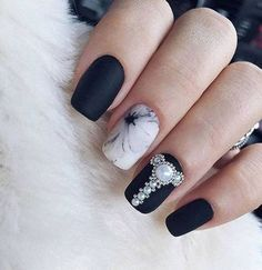 Awesome These Black Polish Nail Art Designs are really fantastic. I know only 5 Black Polish Nail Art Designs but through this i got so many Black Polish Nail Art Designs. Glad you found this post useful. Thanks for research on black nail art designs. Matte Nail Art, Black Nail Art, White Nails, Black Polish, Matte Black, Black White, Nail Art Design Gallery, Best Nail Art Designs, Minimalist Nails