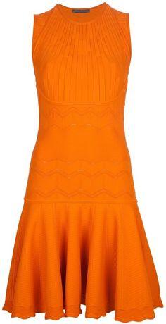 Alexander McQueen wavy knit dress on shopstyle.com