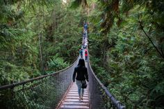 The Lynn Canyon Suspension Bridge in Vancouver, BC, Canada. The views are breathtaking!