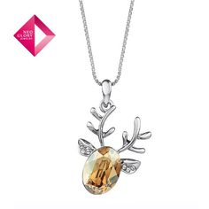 Aliexpress.com : Buy Free Shipping (No Min Order) Neoglory MADE WITH SWAROVSKI ELEMENTS Crystal Fashion Necklace for Female Deer Pendant Jewelry from Reliable Necklace for Women suppliers on NEOGLORY JEWELRY