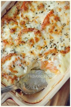 Mozzarella and mashed potato pie. Great twist on mashed potatoes