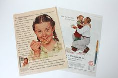 Vintage 1950s magazine advertisements featuring by MossAndBerry, $20.00