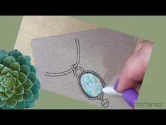 How to draw an Opal Zengem Timelapse -Artzyfartzy - YouTube