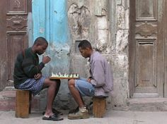 Play chess, but don't move your feet!