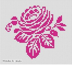 horse patterns for knitting Cross Stitch Rose, Cross Stitch Flowers, Cross Stitch Charts, Cross Stitch Designs, Cross Stitch Patterns, Crochet Motifs, Crochet Cross, Crochet Chart, Filet Crochet