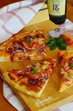 Pizza magyaros feltéttel Taco Pizza, Vegetable Pizza, Tacos, Vegetables, Food, Kitchen, Cooking, Essen, Kitchens