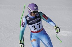 Slovenia's Tina Maze crosses the finish line during the women's alpine combined competition at the alpine skiing world championships, Monday, Feb. in Beaver Creek, Colo. Tina Maze, World Cup Skiing, Lindsey Vonn, Ski Racing, Beaver Creek, Alpine Skiing, Ski Boots, World Championship, Crosses