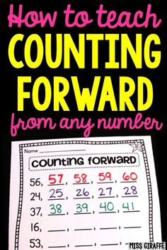 How to teach counting to 100 Number Sense Activities, Counting To 100, Differentiated Instruction, Learning Numbers, First Grade Math, Kindergarten Activities, Math Centers, Teacher Stuff, Kids Learning