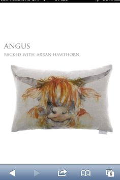 Angus the highland cow cushion by Voyage Maison!